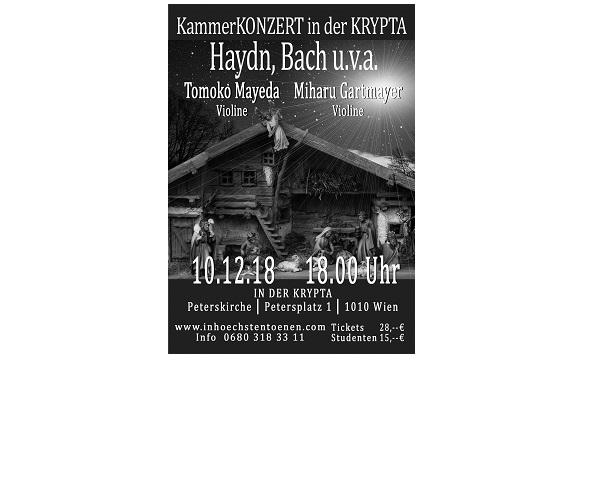 Kammerkonzert in der Krypta 10.12.2018