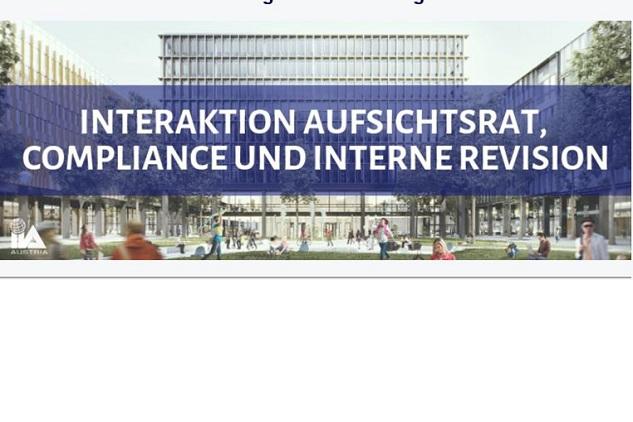 """""""Interaktion Interne Revision, Compliance und Aufsichtsrat"""" 21.05.2019"""