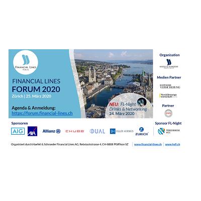 Financial Lines Forum 2020 in Zürich – Medienpartnerschaft für Österreich 10.09.2020